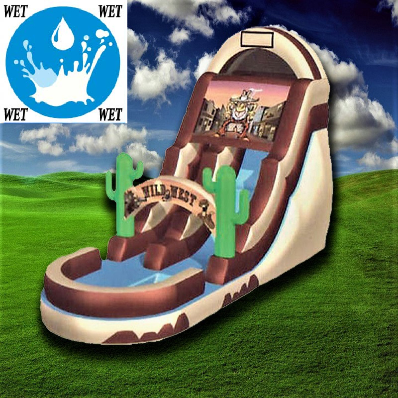 18 Ft, Wild West Slide (Wet)