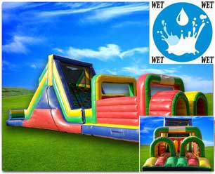 51ft Dual Obstacle Course - Wet